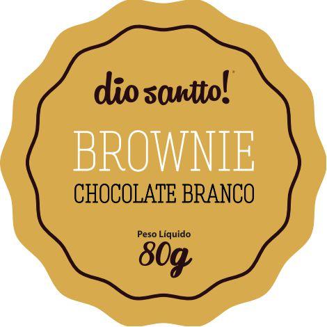 Brownie Chocolate Branco 70g Dio Santo