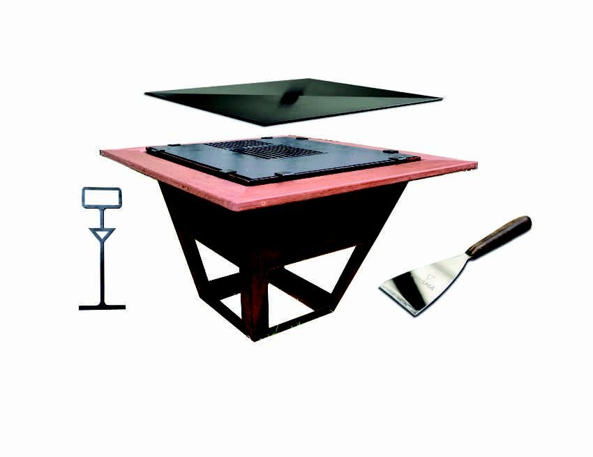 Combo Lareira Baby Grill   Prisma Grill