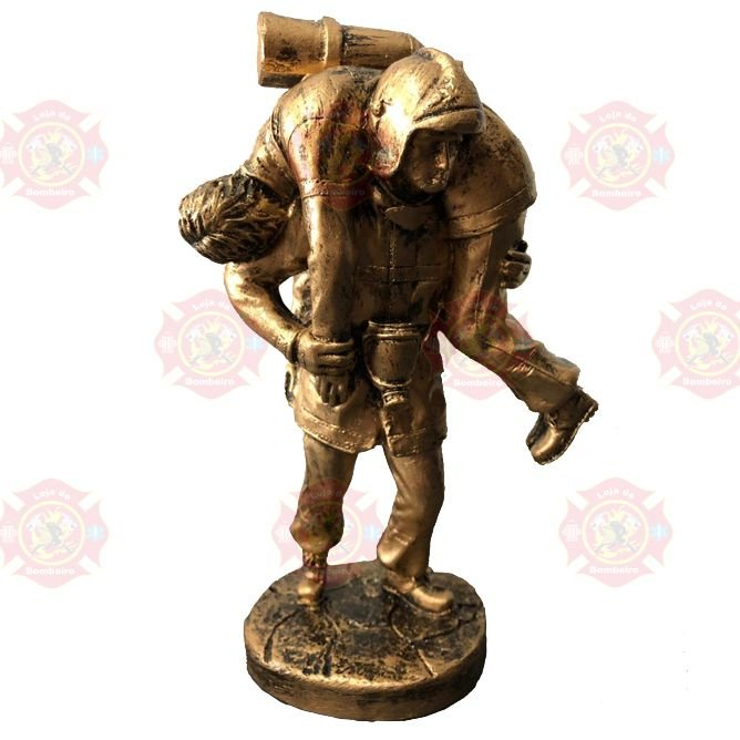 Estatua Bombeiro Salvamento