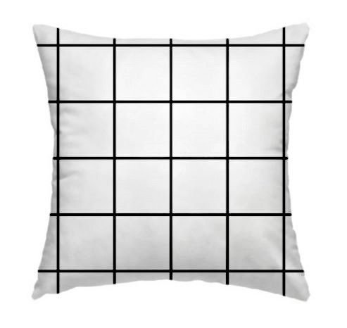 Capa de Almofada Grid Branco 45x45cm