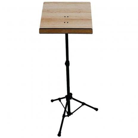 Pedestal (estante) de partitura em madeira