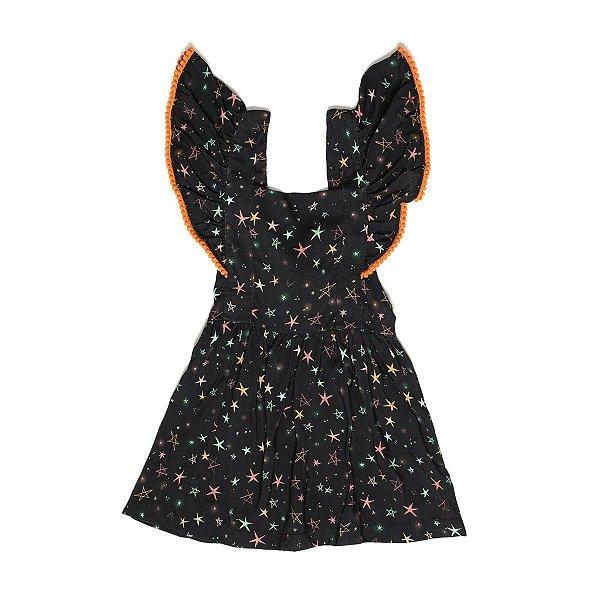 Vestido Jardineira Pompom Constelação