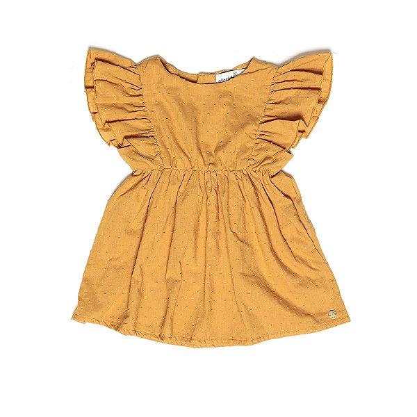 Vestido Baby Pipoquinha Mostarda
