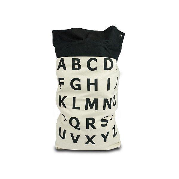 Saco para Brinquedos  Alfabeto BLACK