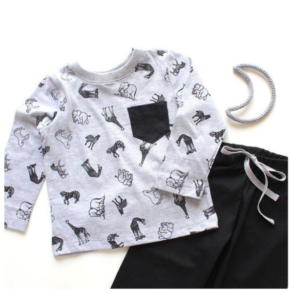 Pijama Grey ZOO