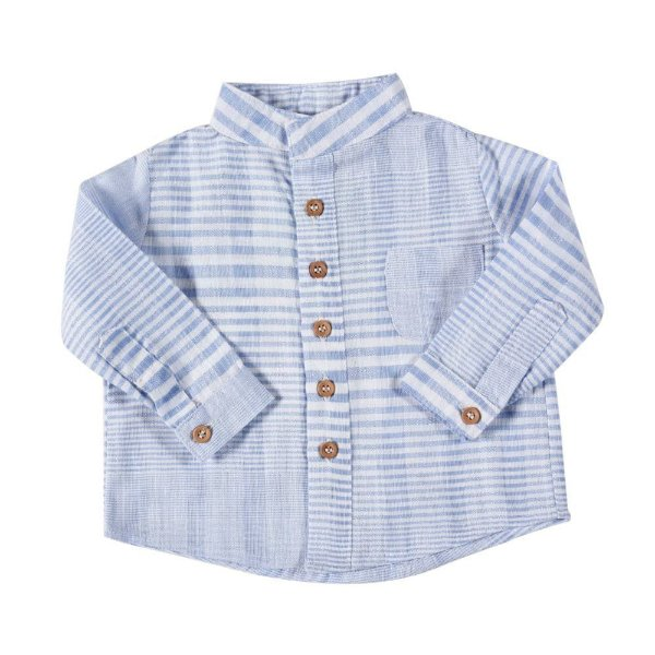 Camisa Alfaiataria Botão Listrada