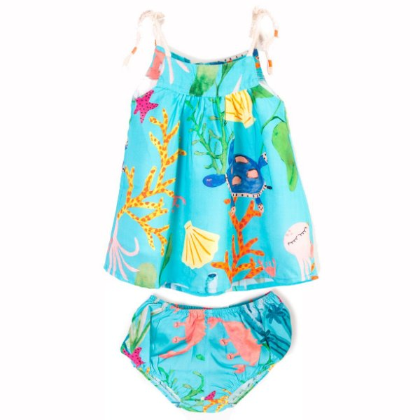 Vestido Baby Fundo do Mar