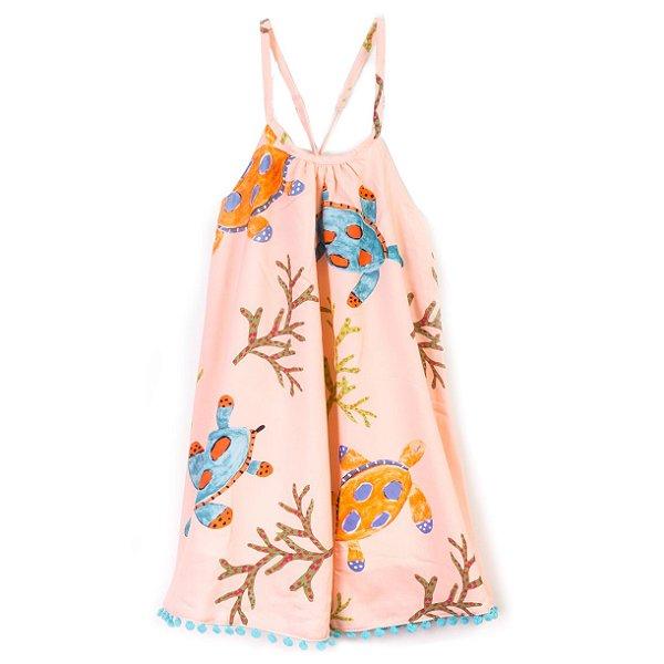 Vestido Pompom Tartaruga Rosê