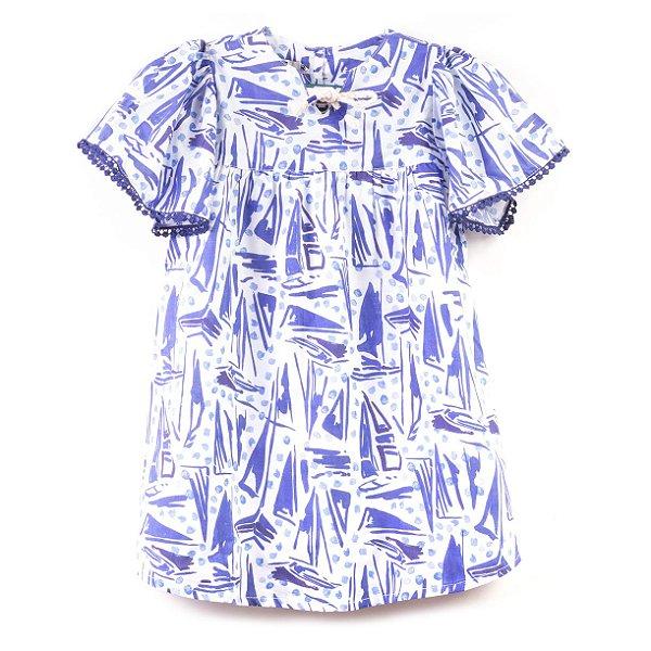Vestido Barcos Pompom Azul