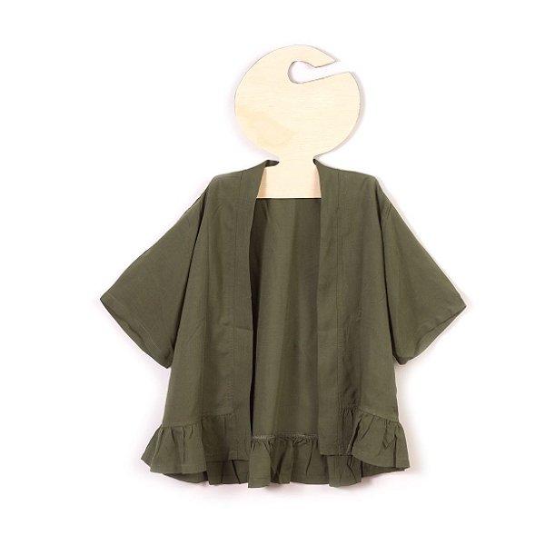 Bata Kimono Verde Militar