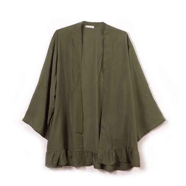 Bata Kimono Verde Militar - MÃE