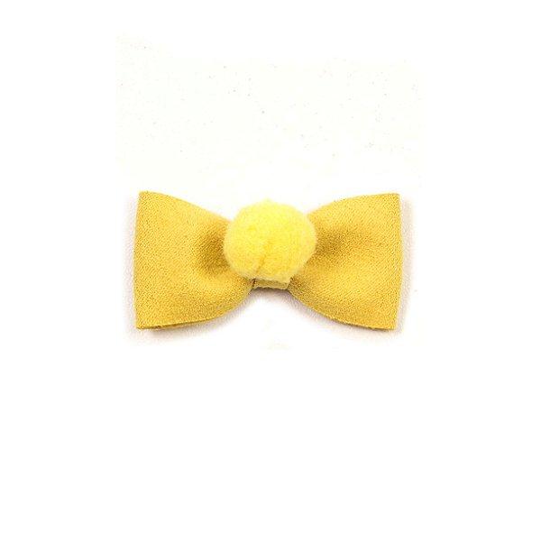 Mini Lacinho Pompom Tic - Tac Yellow