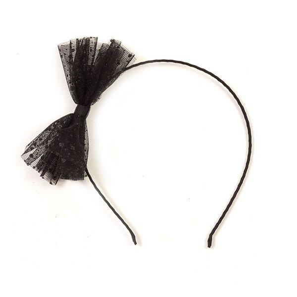 Tiara Arco Laço Tule Black