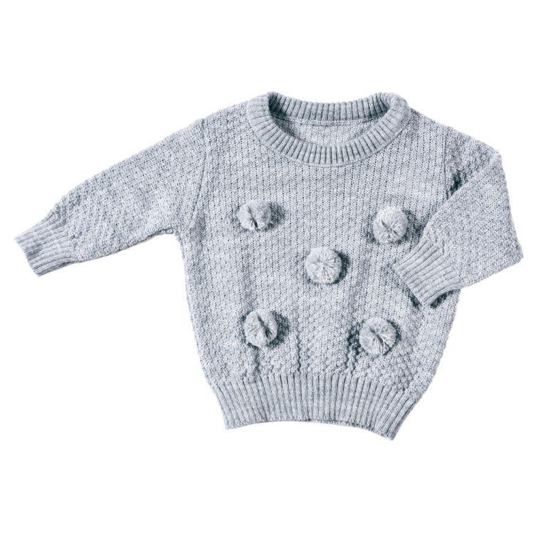 Pullover Tricot Pompom Mescla