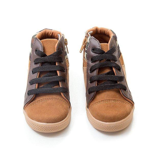 Tênis Sneaker Marrom Camou