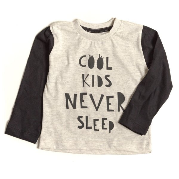 T-shirt  Raglan Cool Kids Never Sleep