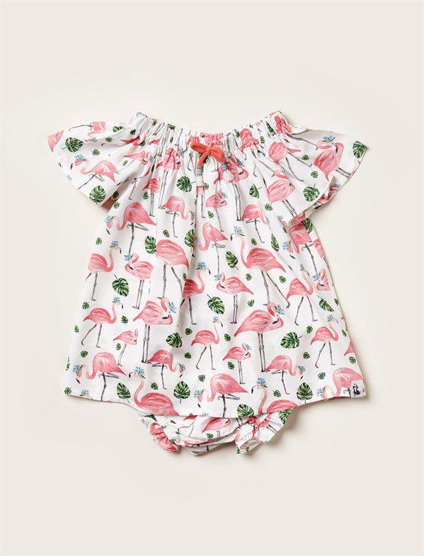 Vestido Baby Flamingos