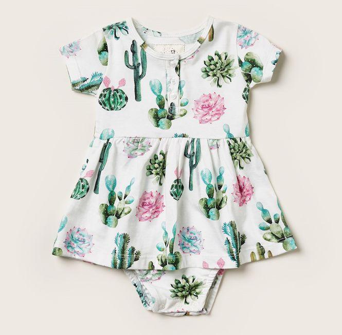 Vestido Body Baby Cactos