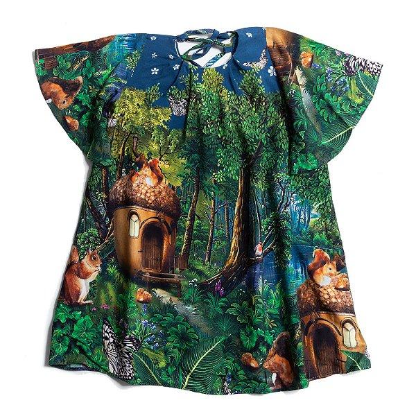Vestido Floresta dos Esquilos