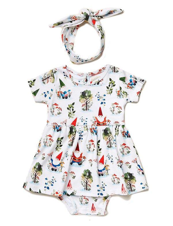 Vestido Body Baby Gnomos Offwhite