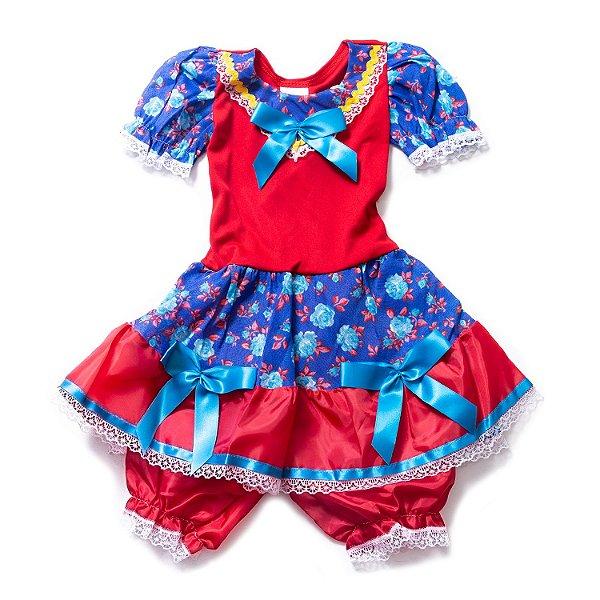 Vestido Malha Junino Floral