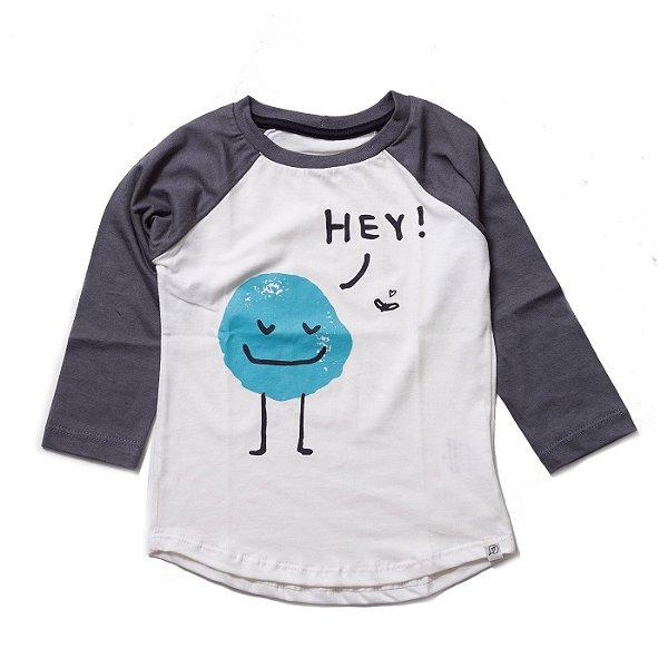 T-shirt Raglan Long - Monstrinho Hey