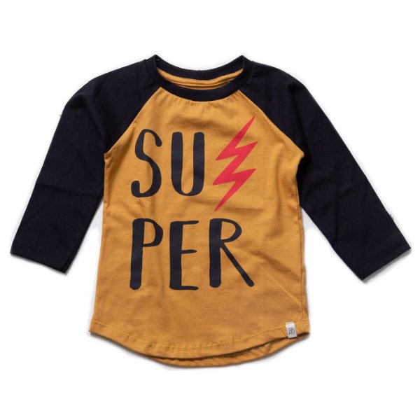T-shirt Raglan Long Mostarda - SUPER