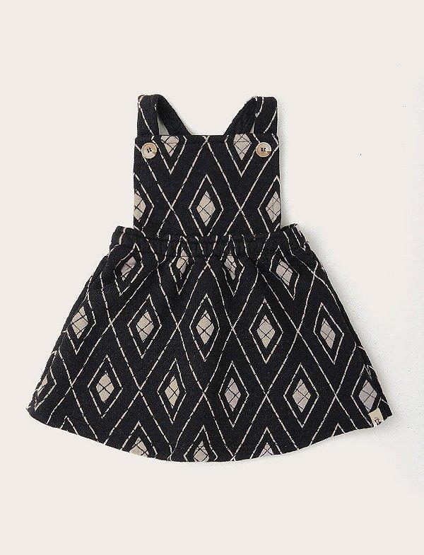 Vestido Salopete Baby Losangos