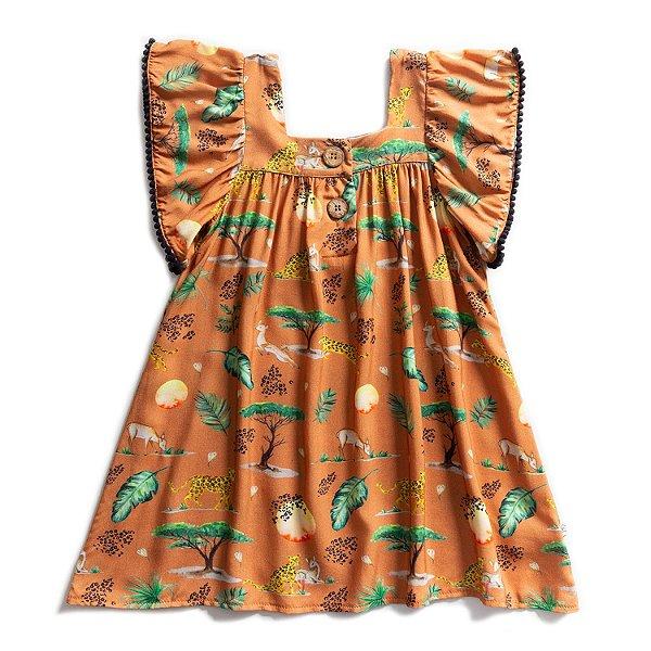 Vestido Pompom Savannah