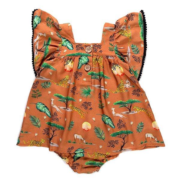 Vestido Baby Pompom Savannah