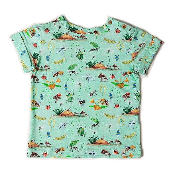 T-shirt Jardim dos Insetos - Acqua