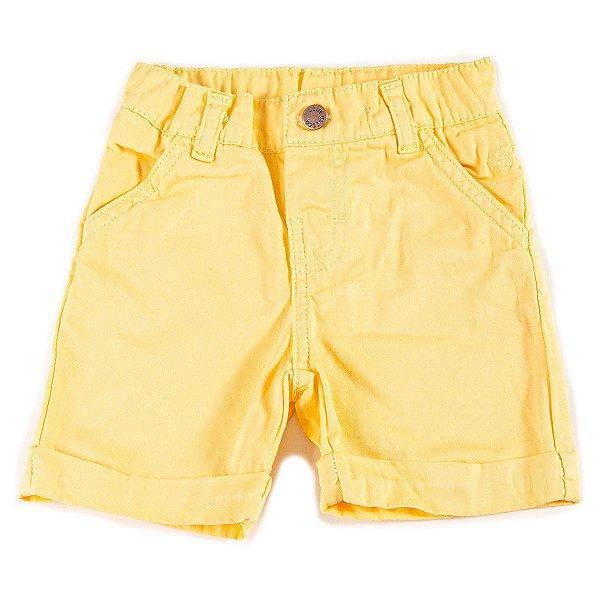 Short Baby Sarja Amarelo