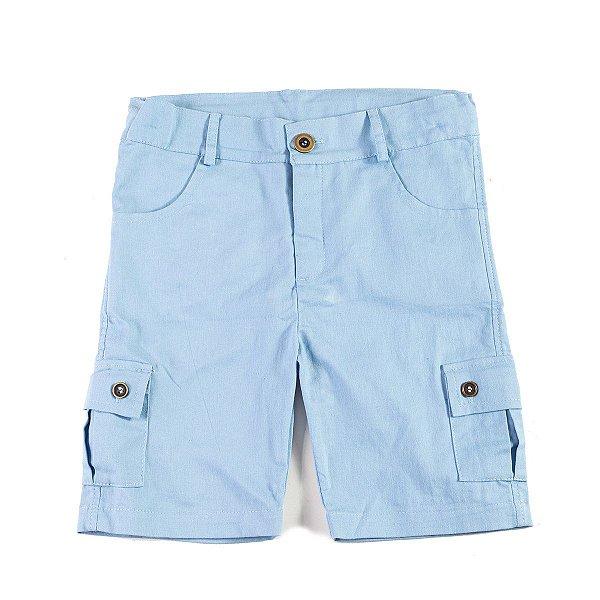 Short Sarja Azul Céu