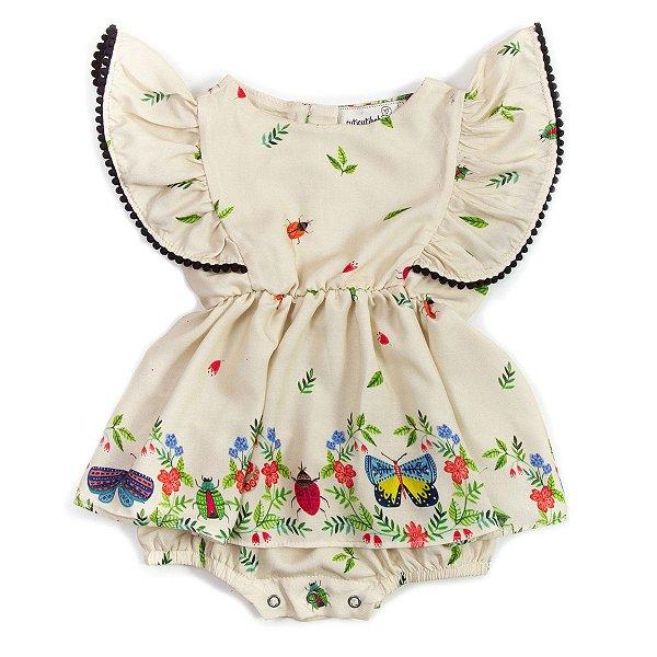 Vestido Baby Pompom Insetos