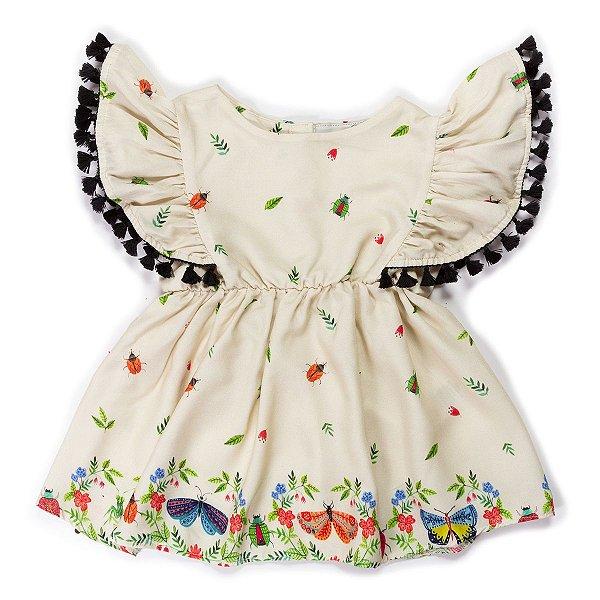 Vestido Franja Insetos