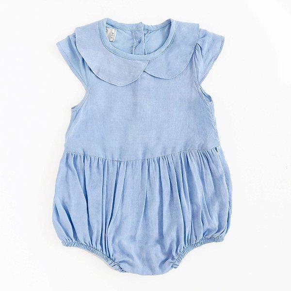Macaquinho Gola Boneca Tie Dye Azul Denim