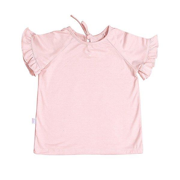 T-shirt Babado Rosa Baby