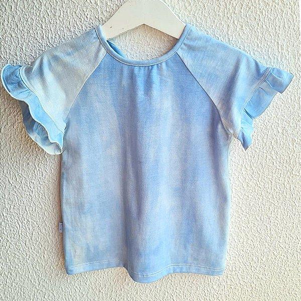 T-shirt Babado Denim Tie Dye
