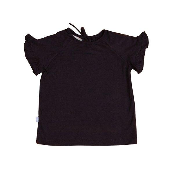 T-shirt Babado Preta