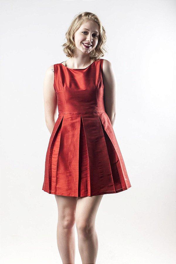 Vestido Tafetá Vermelho - Linha Happen WM