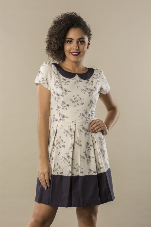 Vestido Floratta Marfim
