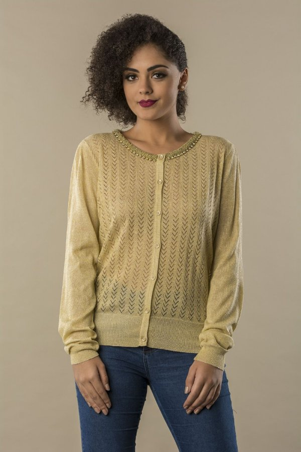 Cardigan Tricot Golden