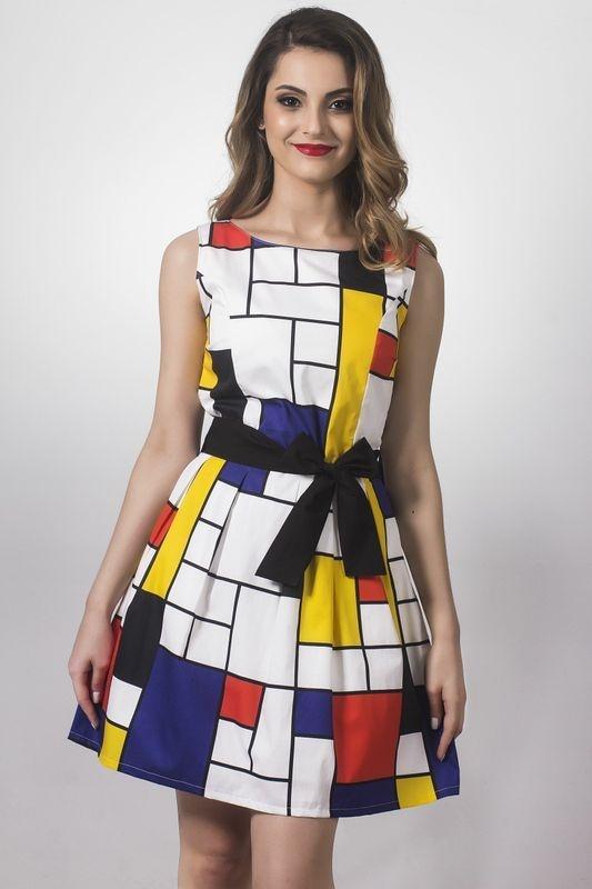 Vestido Mondrian Inspired