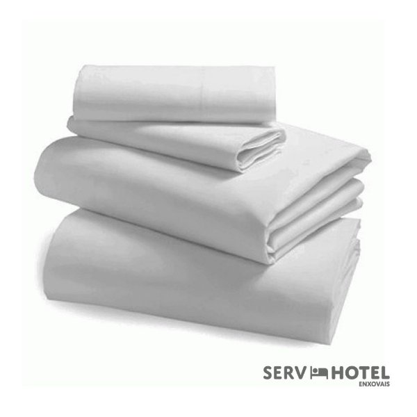 Jogo de Lençol Casal Quality Servhotel - percal 180 fios - branco
