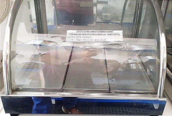 Estufa Borges 3 bandejas - Vidro Curvo