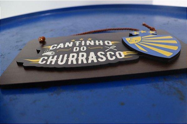 Placa - Cantinho do Churrasco