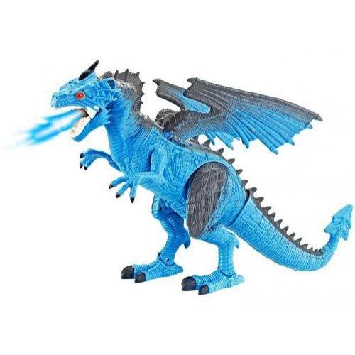 Dragão de Gelo THORN Controle Remoto Simula Fogo Luz e Som - Polibrinq