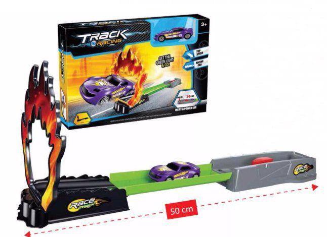 Pista Flame Car com Lançador - Polibrinq
