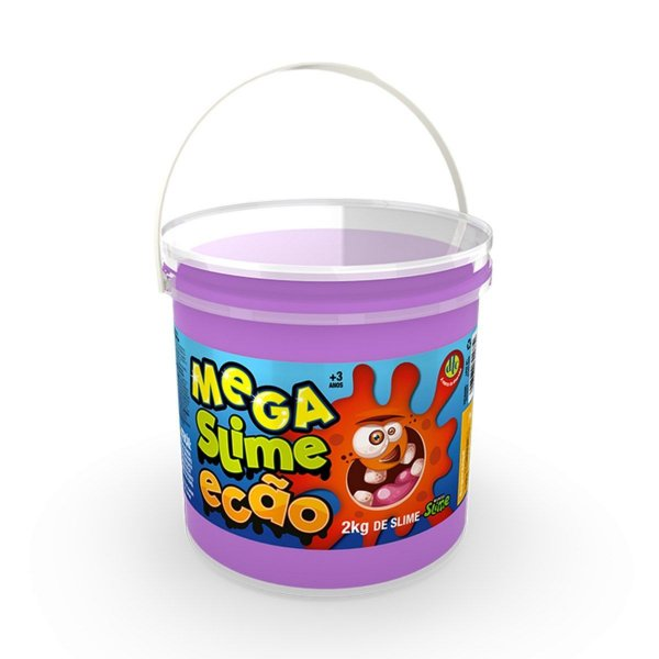 Mega Pote de Slime Ecão 2Kg Roxo - DTC