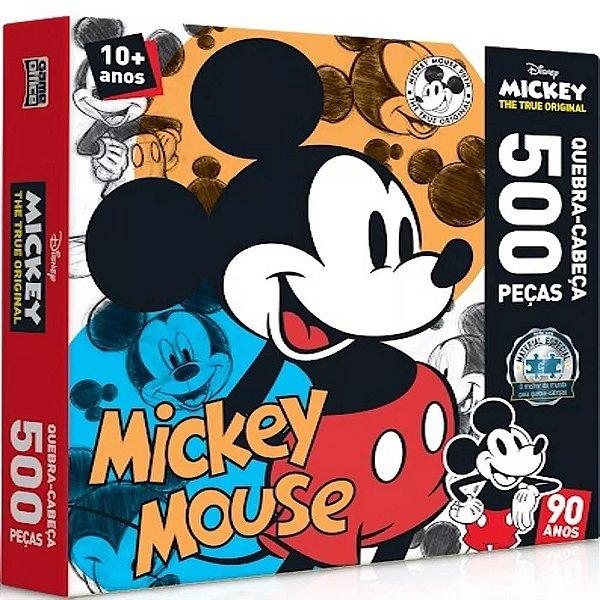 Quebra cabeça 500 Peças Mickey 90 Anos - Toyster